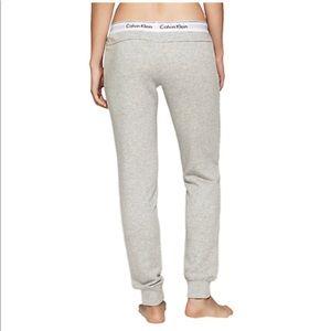 Calvin Klein Modern Grey Signature Sweatpants
